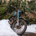Moto rouillée